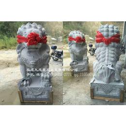 惠安石雕厂家供应2.8米石雕北京狮福建芝麻白花岗岩石材雕刻