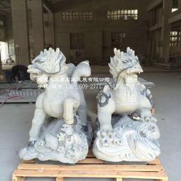 石雕神兽厂家雕刻罕见河图洛书造型采用福建654石材芝麻黑