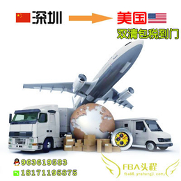 深圳整柜散货海运到美国亚马逊仓库FBA头程到门免费派送