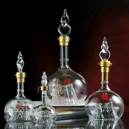 泰山玻璃酒瓶异形酒瓶创意玻璃制品厂家直销