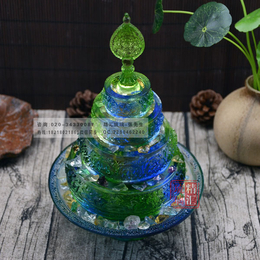古法琉璃曼扎盘 藏传佛教用品 佛堂琉璃佛具摆件