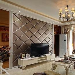 软包背景墙客厅电视菱形背景墙