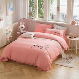 新款家纺纯棉保暖四件套全棉加厚磨毛床单被套床品礼品厂家批发