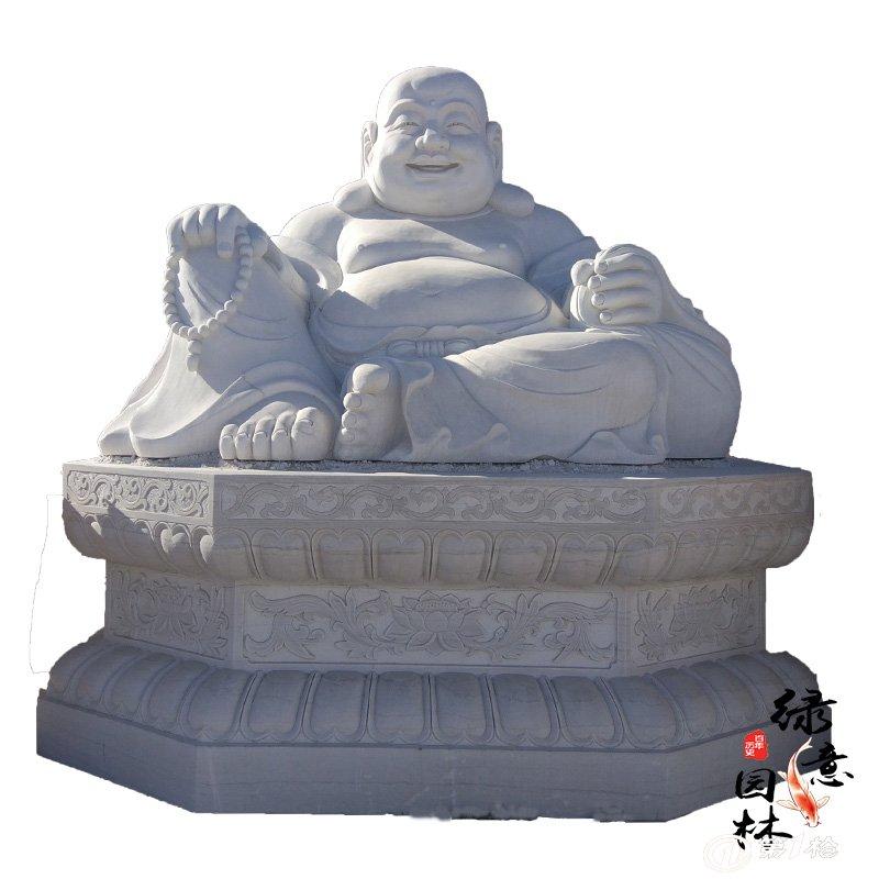 汉白玉石雕释迦摩尼坐像 如来佛雕像 如来三世佛雕像