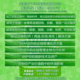 保税废料废品 退港货物产品处理回收 香港交易