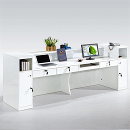 办公家具公司前台接待台 办公桌迎宾咨询台 板式收银台服务台