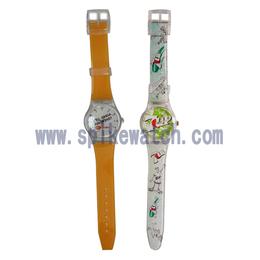 手表厂家定制swatch促销礼品广告手表 七喜广告促销手表