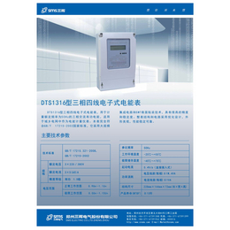 河南郑州电表国网表DTS1316型三相四线电子式电能表
