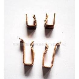 英式导电接地夹冲压件 插座配件 铜件