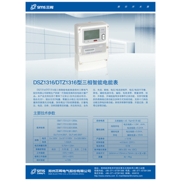 河南郑州电表国网表DTZ1316型三相智能电能表