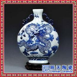 景德镇青花瓷花瓶批发 定制名家手绘青花瓷 礼品青花瓷