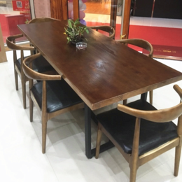实木会议桌长桌办公电脑桌简约现代长桌子工作台长方形餐桌椅