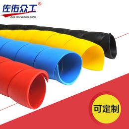 低价实惠 防火防咬耐老化螺旋电线护套 液压耐磨螺旋胶管保护套
