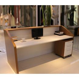 前台接待台迎宾台新款柜台收银台办公桌子现代简约时尚前台桌