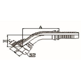 45度公制内螺纹平面接头 不锈钢接头 碳钢 镀镍