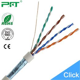 普菲特FTP单屏蔽网线超五类纯铜网络双绞线生产厂家批发订做