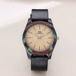 新款欧美时尚个性环保金刚彩木男士手表木头腕表厂家支持定制批发