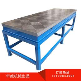 沧州华威防锈铸铁平板钳工平台厂家现货直销