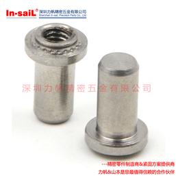 304不锈钢盲孔压铆螺母柱压铆件 压铆螺柱