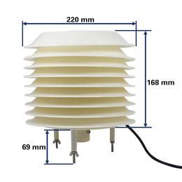 供应厂家百叶盒温湿度变送器
