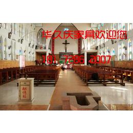 天主教堂椅天主教实木跪拜椅讲台奉献箱