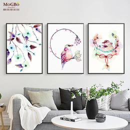 蘑菇堡 小鸟画装饰画缩略图