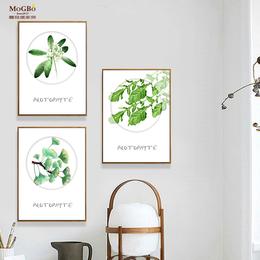 蘑菇堡 植物叶子装饰画