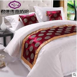 酒店床上用品宾馆四件套全棉贡缎酒店布草供应宾馆四件套批发