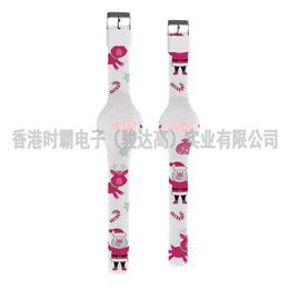 手表加工厂供应2018年新品硅胶彩色印刷手表