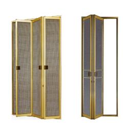 金钢网门窗成品定做折叠门    缩略图