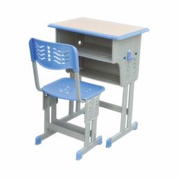 双柱双层带双柱背靠椅课桌椅缩略图