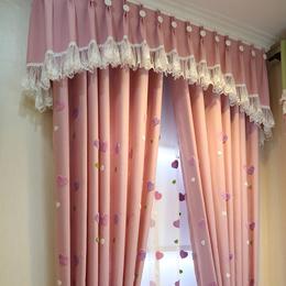 韩式清新窗帘公主风卧室