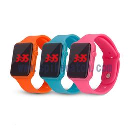 ebay供应新品休闲简约苹果方形LED电子手表