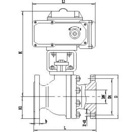 电动o型切断球阀 电动不锈钢切断阀尺寸 潍坊电动球阀图片