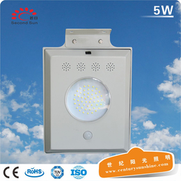 新款灯具一体化太阳能门头灯太阳能发电智能感应5Wled锂电灯