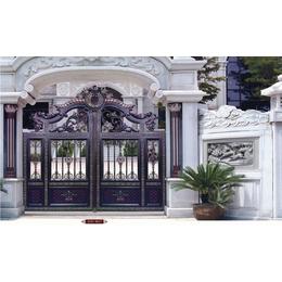 生产供应 铝艺庭院大门铝艺别墅大门批发 别墅铝艺护栏