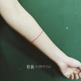 女生小清新线条  纹身