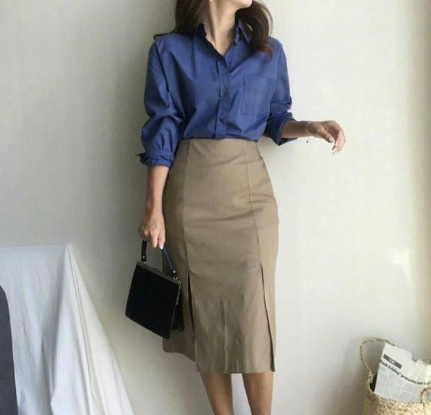 职业装+包臀裙