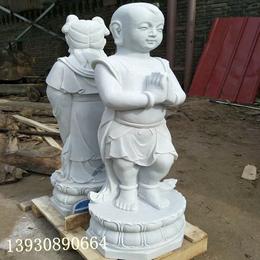 供应汉白玉石雕童子 善财童子 石雕佛像厂家直销