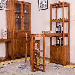 展博酒柜吧台新中式白蜡木纯实木工厂直销