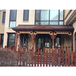 户外炭化防腐木别墅围墙栅栏花园木头围栏景区篱笆庭院护栏