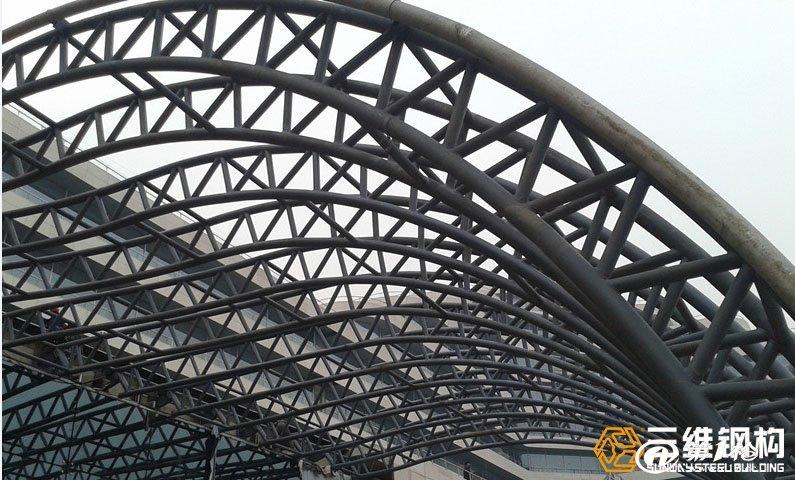 出口加工 钢结构网架加工 网架工程施工-三维钢构