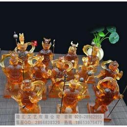 十二药叉神将琉璃佛像制作 古法烧制十二药叉佛像 北京佛像工厂