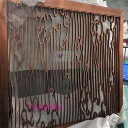 背景墙装饰不锈钢屏风隔断玫瑰金不锈钢屏风花格厂家加工定制