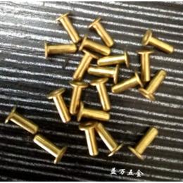 厂家批发高质量黄铜鸡眼铆钉 空心铆钉