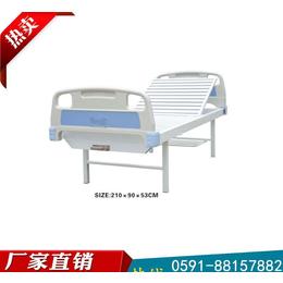 維航不銹鋼床頭病理床 ABS醫用手動雙搖護理床
