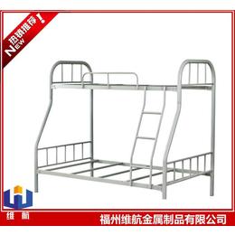 福州鋼制子母床 下寬上窄鐵架床  工廠上下雙層床安裝