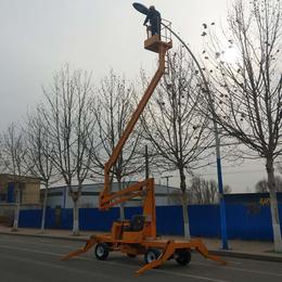 曲臂升降机 360度旋转高空作业平台报价 四轮自行式升降车