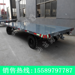 源隆定做各种周转运输平板拖车 6T运输平板拖车 厂区周转板车