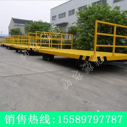 源隆定做仓栅式平板拖车 12吨围栏平板拖车 厂区散货平板车